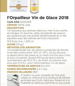 Vin de Glace de l'Orpailleur 20 cl