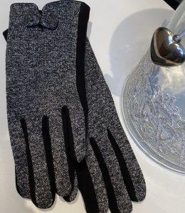 Gants noirs et gris pailletés